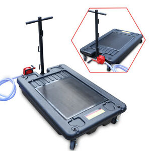 17gallon Low Profile Portable Truck Car Oil Drain Pan Tray With Pump And Hose Us