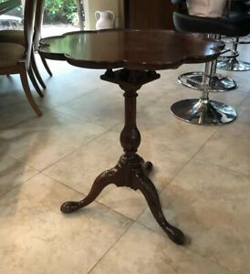 Baker Milling Road Empire Style Mahogany Round Pedestal Side Table