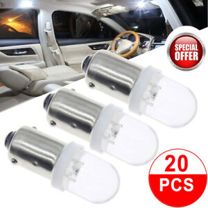 20pcs Super White Ba9s Led Interior Dome Instrument Panel Dash Gauge Light Bulbs