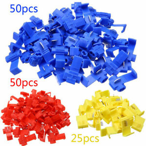 125x All Sizes Quick Splice Tap Wire Connectors 12 10 16 14 22 18 Gauge Us Stock