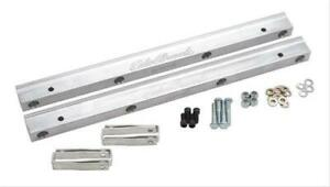 Edelbrock Fuel Rails Victor Efi Style Aluminum Clear Anodized Ford 429 460 Pair