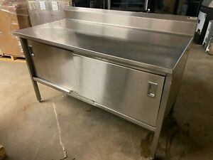 John Boos 60 X 30 Commercial 16 Gauge Stainless Steel Work Enclosed Cabinet