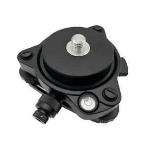 Black Gps Carrier Fixed Adapter With 5 8 Thread Tribrach With Optical Plummet