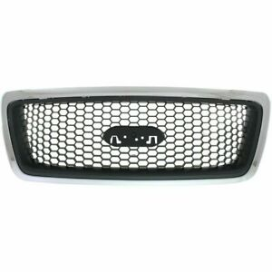 New Chrome Grille For 2004 2008 Ford F 150 Fo1200469 6l3z8200aa Ships Today