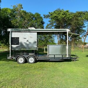 Ole Hickory Pit El ed x Bbq Smoker Rotisserie Oven Cooker On 18 Cook Trailer