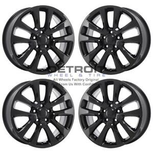 20 Jeep Grand Cherokee Gloss Black Exchange Wheels Rims Factory Oem 9157 201