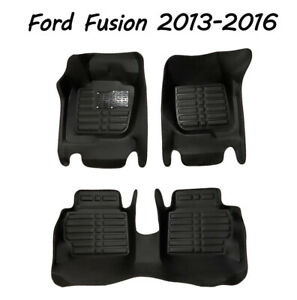 Car Floor Mats Front Rear Liner Waterproof Auto Mat For Ford Fusion 2013 2016