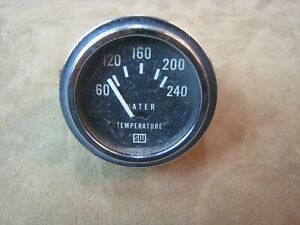 Working Vintage Stewart Warner Sw No 429724 Water Temp Temperature Gauge Gage