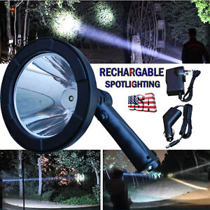 100w 5 Inch Led Handheld Spot Light Camping Shooting Hunting Rechargeable Lamp