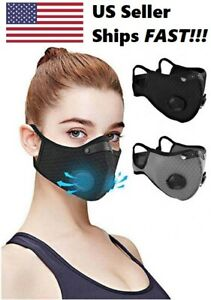Reusable Face Mask With Activated Carbon Filter And Dual Air Valves