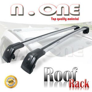 Roof Top Rack Cross Bars Flush Rails Mount With Keylock Fit Jeep