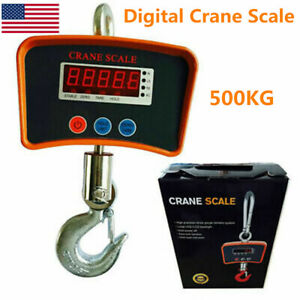 500kg Digital Crane Scale Heavy Duty Industrial Hanging Scale Lcd Display Usa
