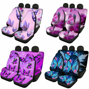 Butterfly Design Women S Car Accessories Seat Covers Front Rear Full Set