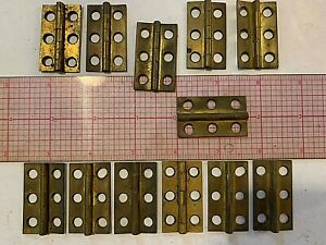 Vintage Heavy Brass Hinges 2 75 X 1 New Old Stock 3 Lots Of 4 Pcs Available