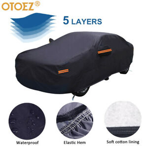 16ft 5 Layer Full Car Cover Waterproof Dust Uv Snow Outdoor All Weather Protect