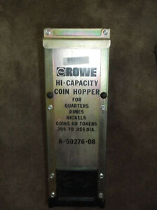 Rowe Changer Hi capacity Coin Hopper 6 50276 08 Bc35 Bc1200 Bc3500 Complete