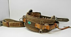 Bashlin 88 D 22 Leather Lineman Service Climbing Belt W Extras