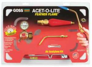 Goss Feather Flame Air acetylene Torch Outfits 662999021345