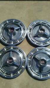 1965 1966 Chevy Ss Hubcaps Set Of 4