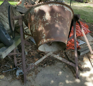Old Antique Vintage Sears Roebuck Concrete Cement Mixer Tumbler Needs Motor