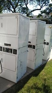 Speed Queen Commercial Laundromat 10 Washers 5 Double Stack 220v Dryers Laundry