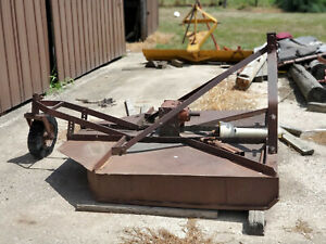 Old Vintage 3pt Brush Bush Hog Rotary Mower Cutter Montgomery Ward Early 1950s