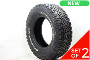 Set Of 2 New Lt 265 70r17 Bfgoodrich All Terrain T A Ko 121 118r 15 32