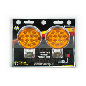 14 Led Double Face Lights 3 Red amber W colored Lenses Semi Truck Fender 75190