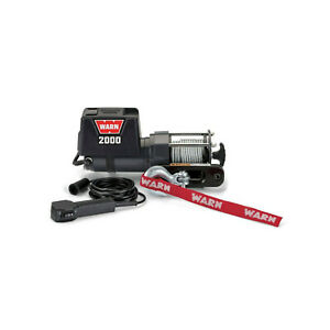 Warn For Industries 2000 Dc 12v Electric Winch Remote Control 92000