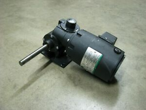Electric Direct Current Gear Motor 1 20 Hp 10 8 Rpm 75 Inch Lbs Of Torque