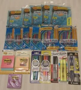 Huge School Office Supplies Lot Pens Mechanical Pencils Post its Highlighters