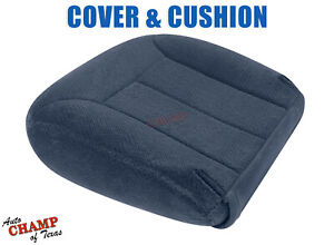 1995 1999 Chevy Tahoe Suburban Driver Side Bottom Cloth Seat Cover Cushion Blue