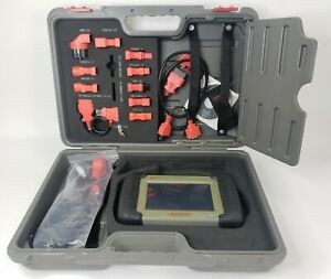 Autel Maxidas Ds708 Scan Tool With Adapters And Hard Shell Carrying Case