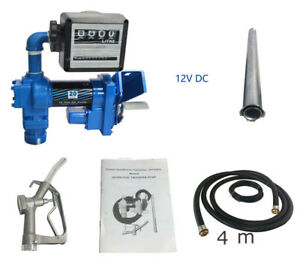 New 12v 20 Gpm Diesel Gasoline Anti explosive Fuel Transfer Pump With Oil Meter