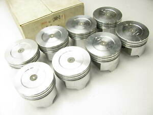 8 Trw L2493f Dish Forged Pistons 0 020 Oversize Ford 302 Small Block V8