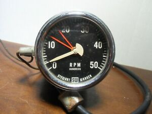 Rare Vtg 50s Stewart Warner Model 760v 6v 5000 Rpm Electric Tachometer Corvette