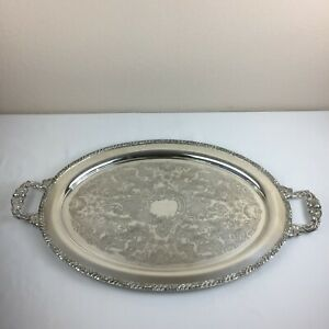 Vintage Oneida Henley Community Double Handle Silver Plated Large Tray 25 X15