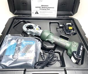 Greenlee Gator Ek622lx11 6 ton Cordless Hydraulic Crimper New With 2 Batterie