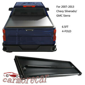 4 Fold Tonneau Cover 6 5ft Truck Bed For Gmc Sierra Chevy Silverado 2007 2013