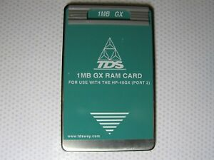 Tds 1mb Gx Ram Card For Use With The Hp 48gx port 2