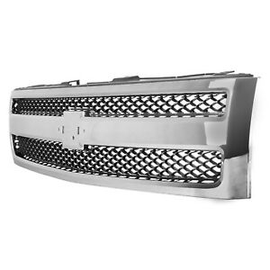Front Grille Fits 2007 2013 Chevrolet Silverado 19303978 Nsf