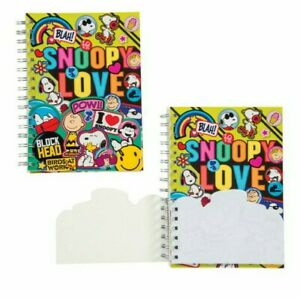 Peanuts snoopy Spiral Journal With Small Die Cut Notepad
