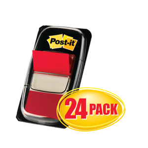 Post it Flags 1 X 1 11 16 Red 50 Flags Per Pad Pack Of 24 Pads