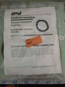 Auto New Automatic Transmission Flush Hose Ipd Pl 241 All Volvo Rwd 1970 98
