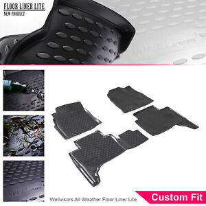 Wellvisors All Weather Floor Mats Liner 4 Pc 2 Row Set For Toyota Tacoma 12 15