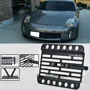 For 06 08 Nissan 350z Front Tow Hook License Plate Mount Relocator Bracket
