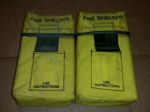 Wildland Forest Fire Shelter Yellow Alice Clip Pouch Firefighting Aluminized Fss