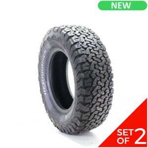 Set Of 2 New Lt 265 70r17 Bfgoodrich All Terrain T A Ko2 121 118s 14 5 32