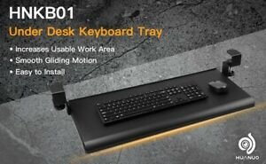 Huanuo Keyboard Tray Under Desk With C Clamp large Size no Screw Into Desk new