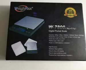 Weighmax Digital 3000 X 0 1g Pocket Scale Light weight Kitchen And Postal Scale